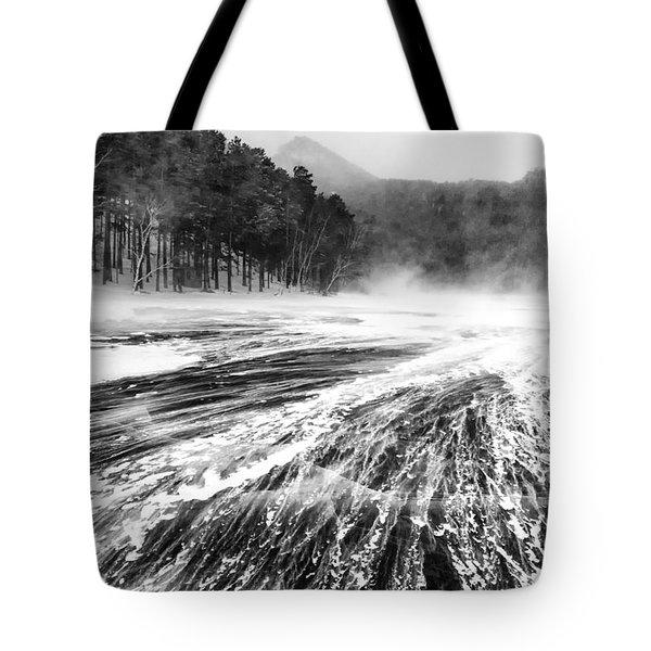 Tote Bag featuring the photograph Snowstorm by Hayato Matsumoto