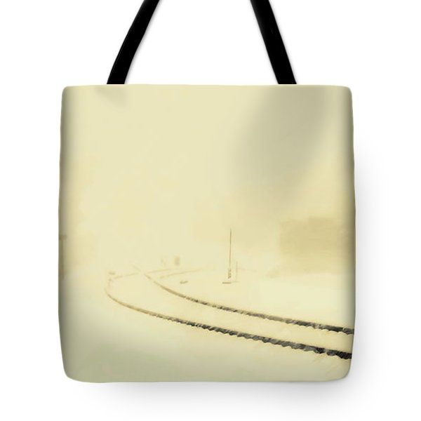 Snowstorm In The Yard S Tote Bag