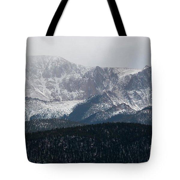 Snowstorm On Pikes Peak Tote Bag