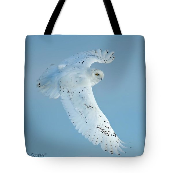Snowy Against Blue Sky Tote Bag