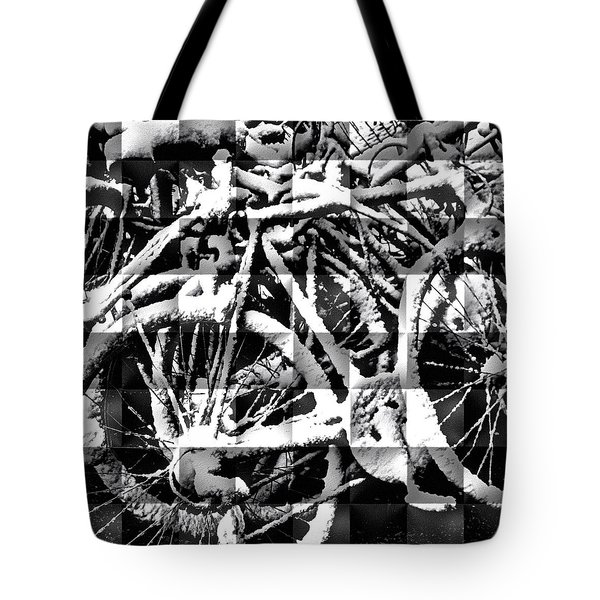 Snowy Bike Tote Bag
