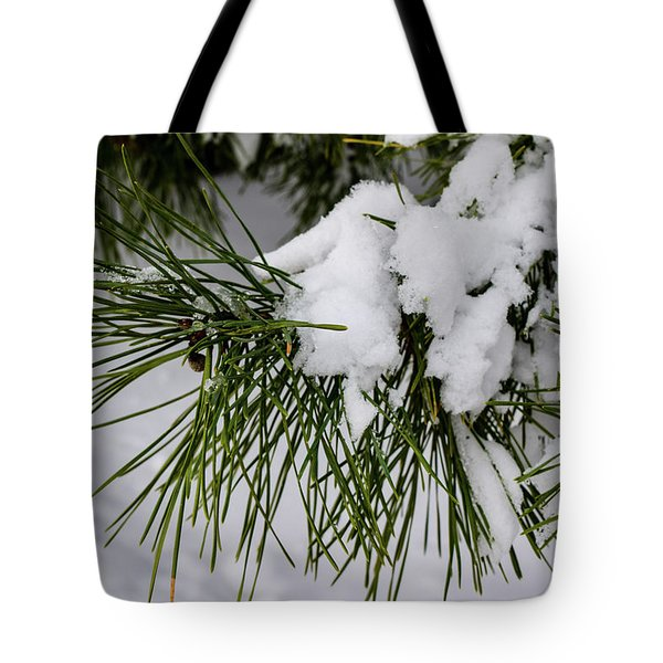 Snowy Branch Tote Bag