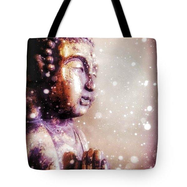 Snowy Buddha Tote Bag