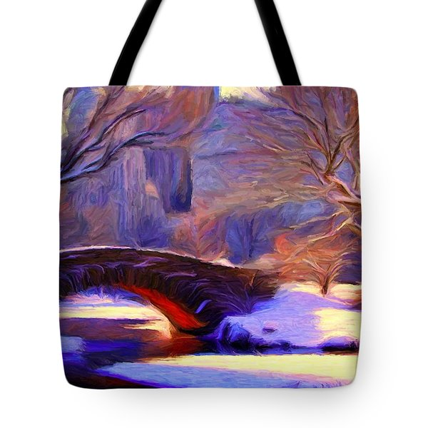 Snowy Central Park Tote Bag