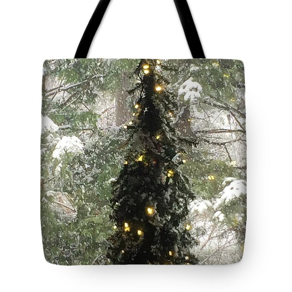Snowy Christmas Tote Bag