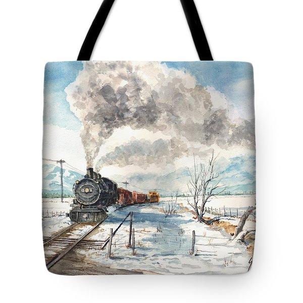 Snowy Crossing Tote Bag