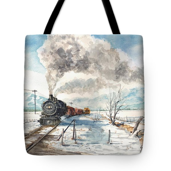 Snowy Crossing Tote Bag