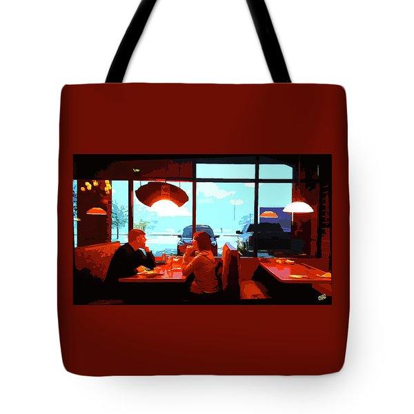 Snowy Date Tote Bag