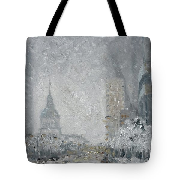Snowy Day - Market Street Saint Louis Tote Bag