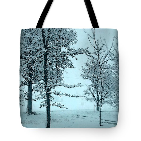 Tote Bag featuring the photograph Snowy Day by Michelle Audas