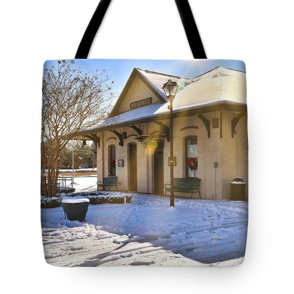 Snowy Depot Tote Bag