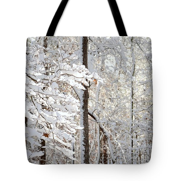 Snowy Dogwood Bloom Tote Bag