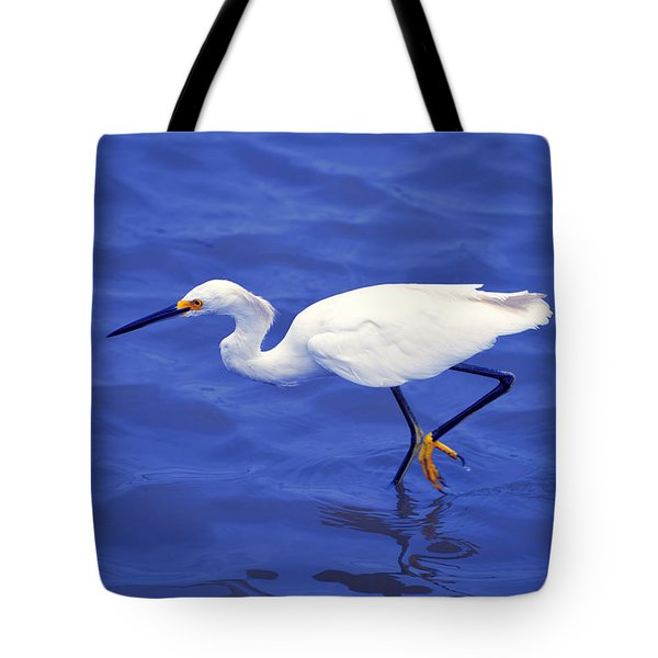 Snowy Egret 1 Tote Bag by Bill Holkham