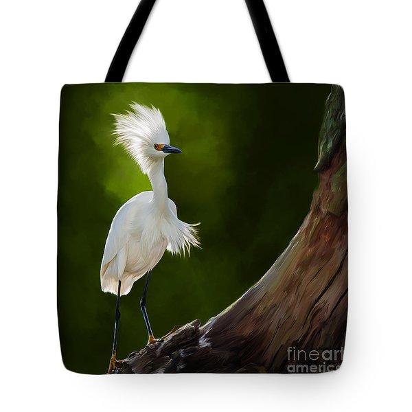 Snowy Egret Artwork 5154 Tote Bag