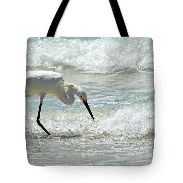 Snowy Egret 6265 Lido Beach Tote Bag