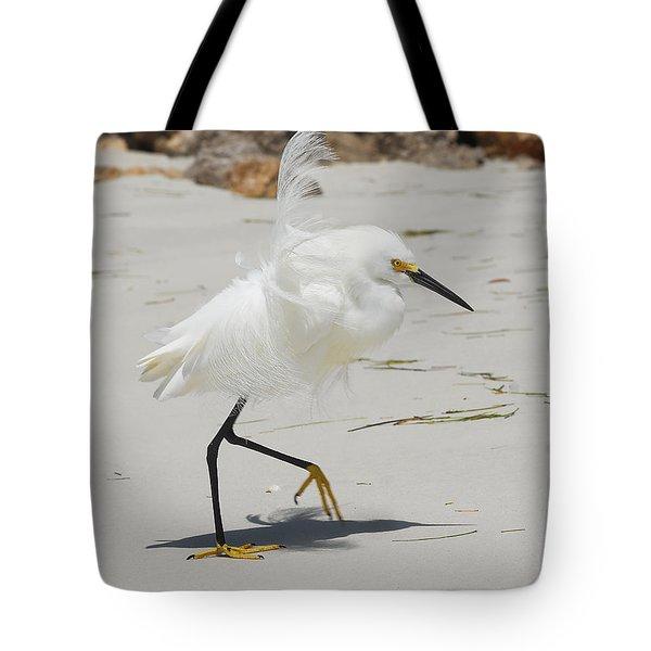 Snowy Egret 6429 Windy Tote Bag