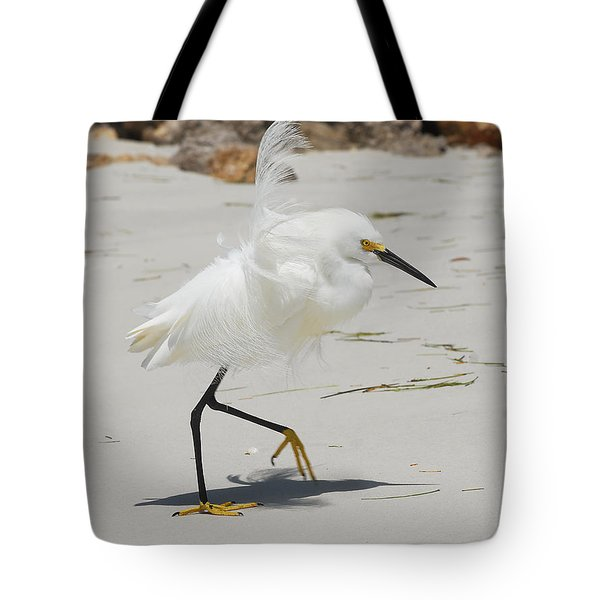 Snowy Egret 6429 Windy Tote Bag