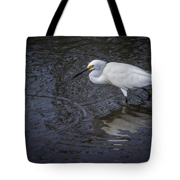 Snowy Egret Hunting Tote Bag