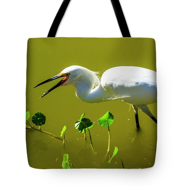 Snowy Egret In Florida Tote Bag