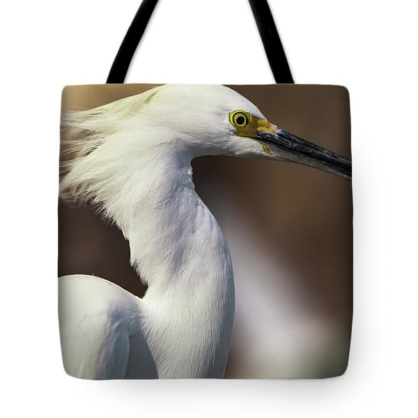 Snowy Egret Tote Bag by Jason Moynihan