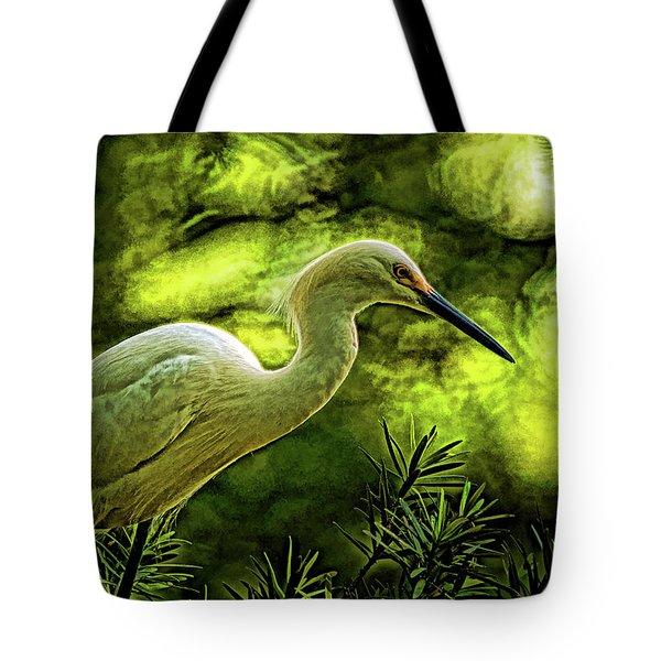 Snowy Egret Radical Tote Bag