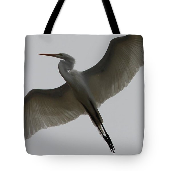 Snowy Egret Wings Of An Angel Tote Bag