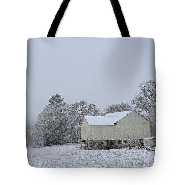 Winter White Farm Tote Bag