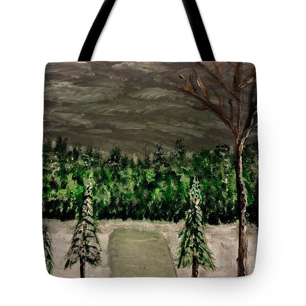 Snowy Field Tote Bag