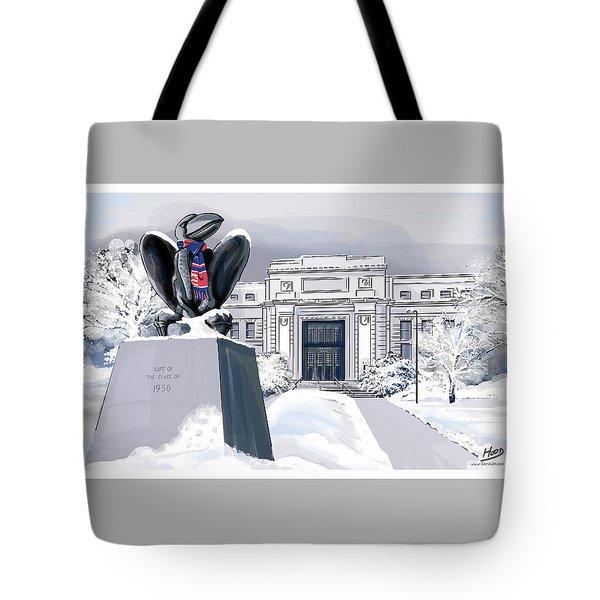 Snowy 'hawk Tote Bag