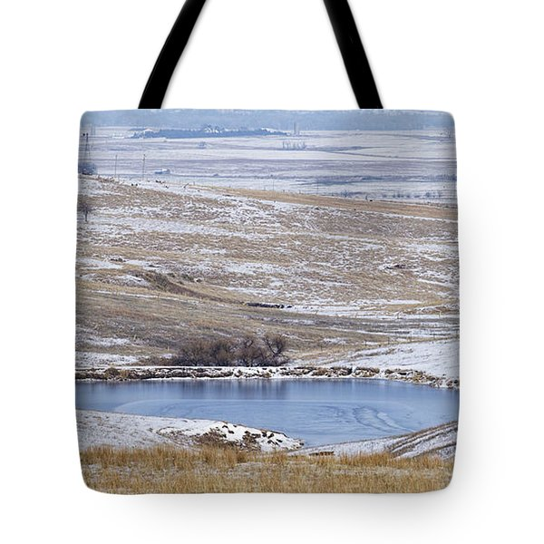 Snowy Hills 1 Tote Bag