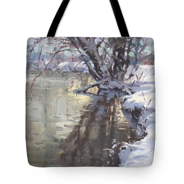 Snowy Hyde Park Tote Bag