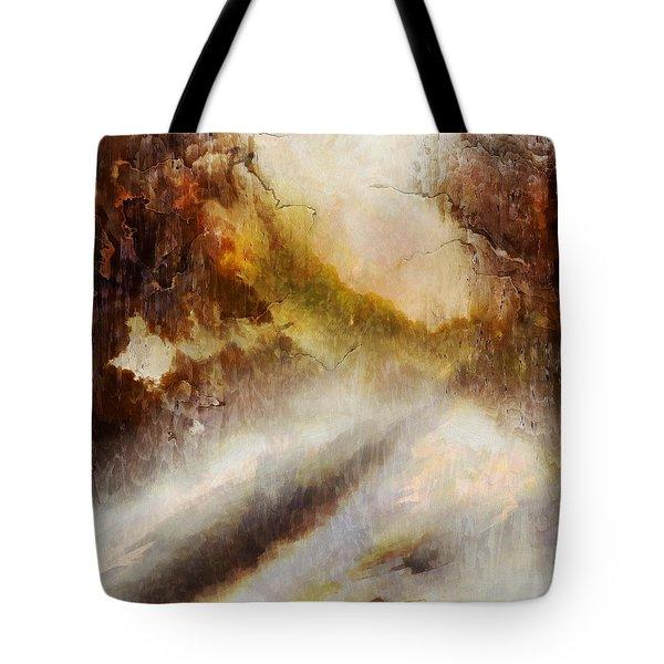Snowy Impression Tote Bag