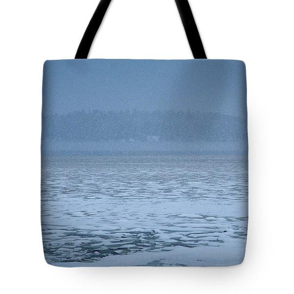 Snowy Island Tote Bag