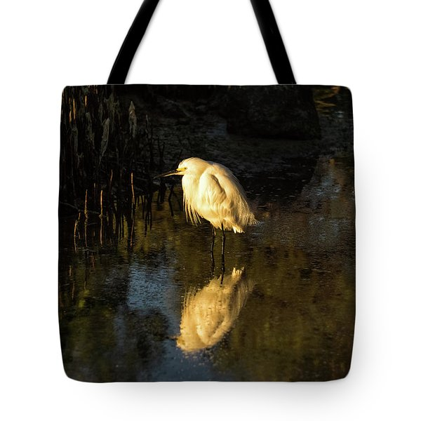 Snowy Kissed By Last Light Tote Bag