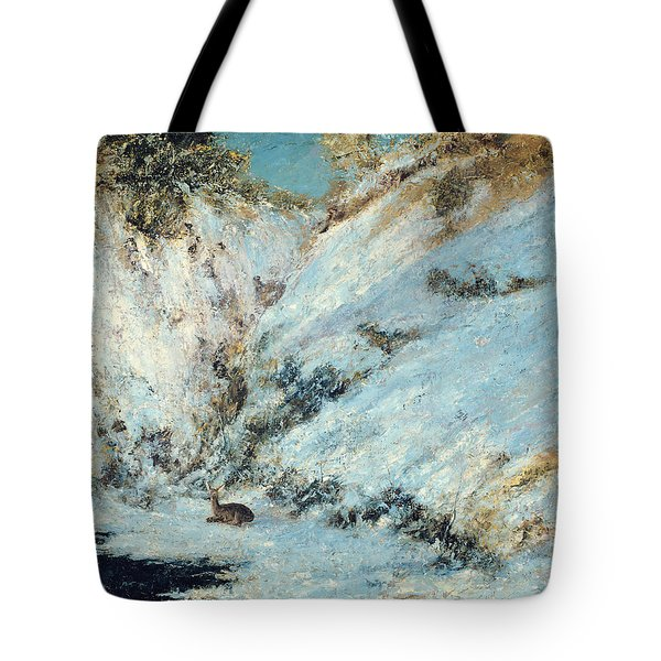 Snowy Landscape Tote Bag by Gustave Courbet