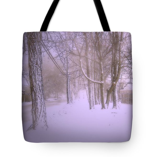 Snowy Landscape Tote Bag by Mikki Cucuzzo