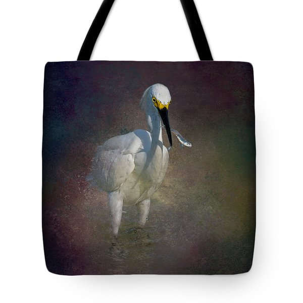 Snowy Lunch Tote Bag