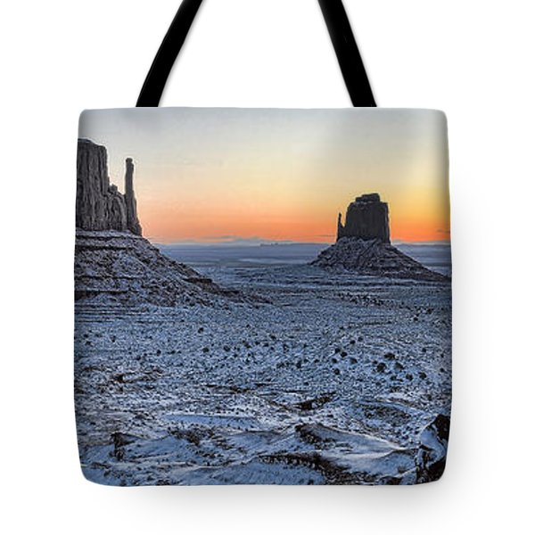 Snowy Mittens - Monument Valley  Tote Bag