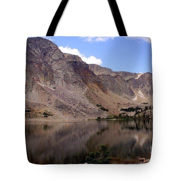 Snowy Mountain Loop 4 Tote Bag by Marty Koch