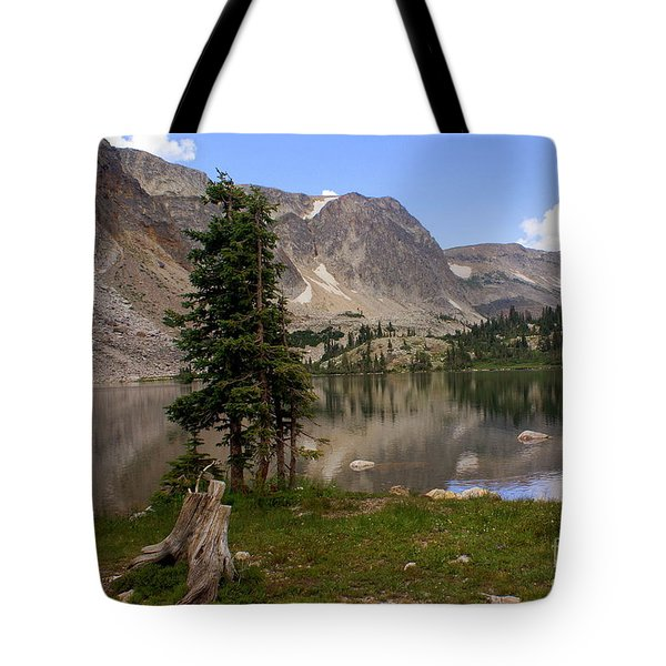 Snowy Mountain Loop 5 Tote Bag by Marty Koch