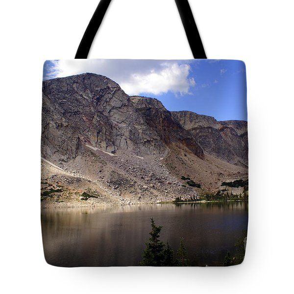 Snowy Mountian Loop 8 Tote Bag by Marty Koch