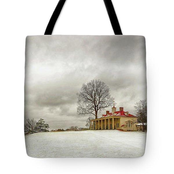 Snowy Mt Vernon Tote Bag