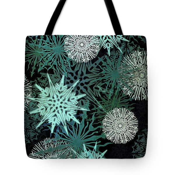 Snowy Night Tote Bag
