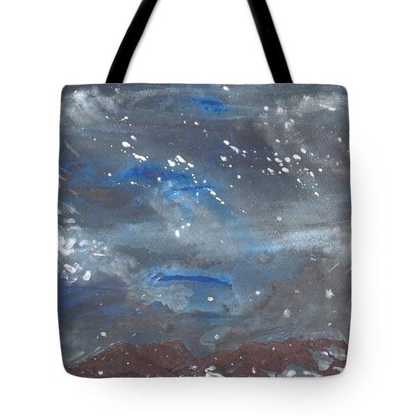 Snowy Night Tote Bag by Mary Zimmerman