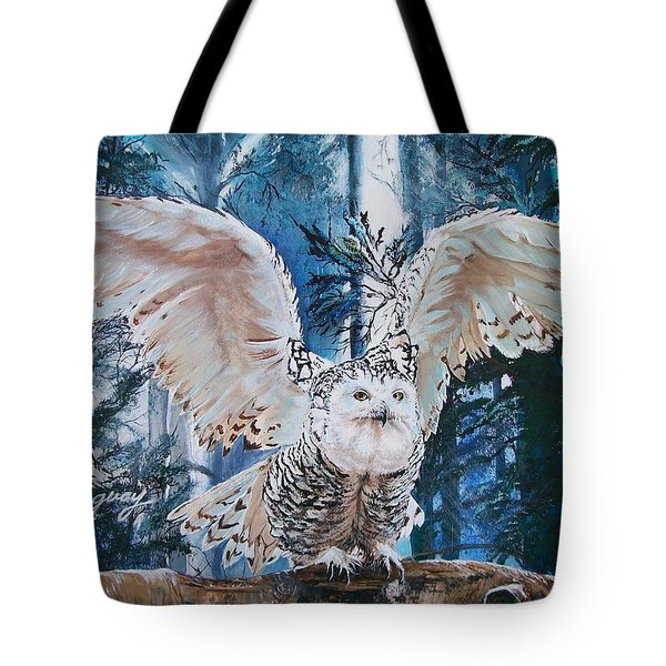 Snowy Owl On Takeoff  Tote Bag