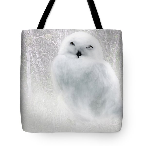 Tote Bag featuring the painting Snowy Owlet by Elaine Manley