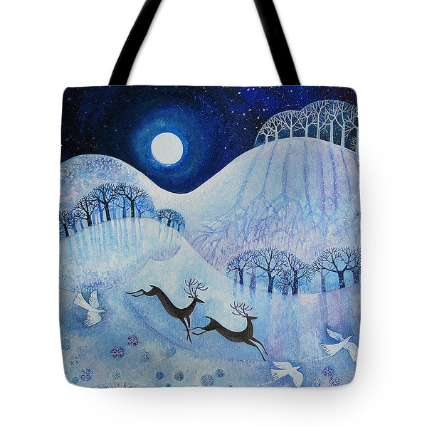 Snowy Peace Tote Bag by Lisa Graa Jensen