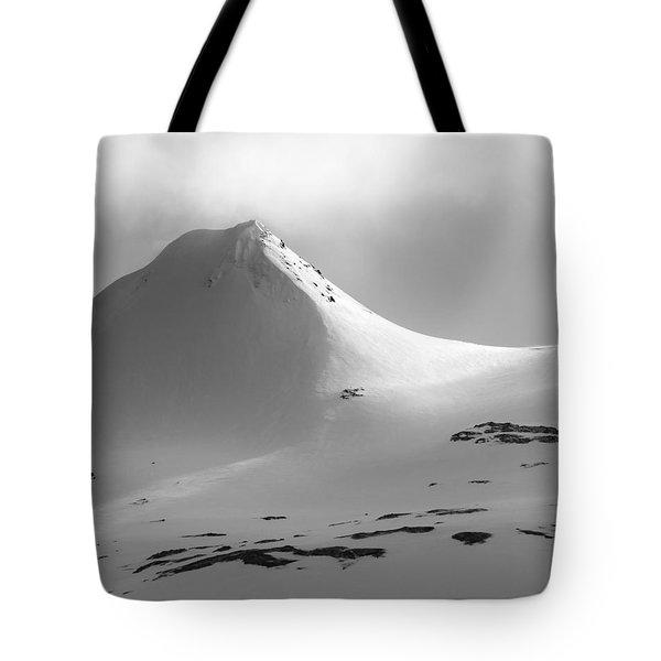 Snowy Peak Over Grundarfjordur Tote Bag