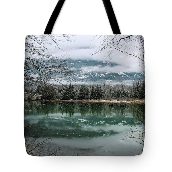 Snowy Reflection Tote Bag