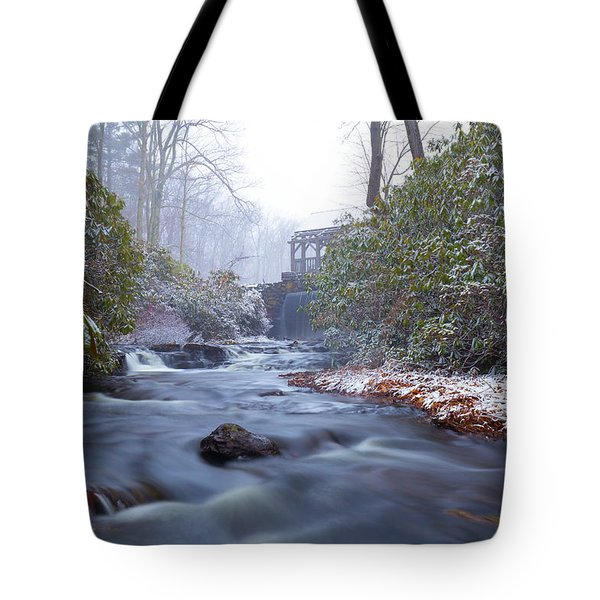 Tote Bag featuring the photograph Snowy River And Waterfall by Brian Hale